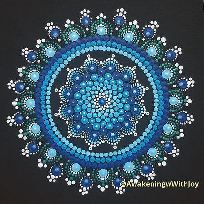 """Serenity"" Mandala (with bonus Diamonds)"