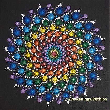 """""""7 Chakras"""" Mandala (with bonus Diamonds)"""