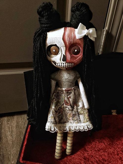 """16"""" Handmade Half-Skull Doll"""