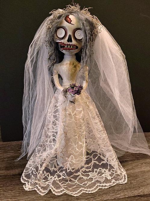 "22"" Handmade Free-standing Zombie Bride Doll"