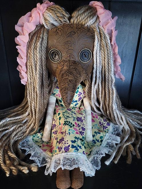 "18"" Handmade Plague Doctor Doll - Brown"