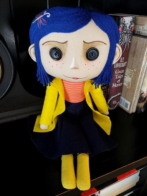 "16"" Handmade Coraline-Inspired Doll"