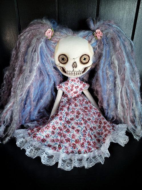 """13"""" Handmade Mini Moody Skull-faced Doll"""