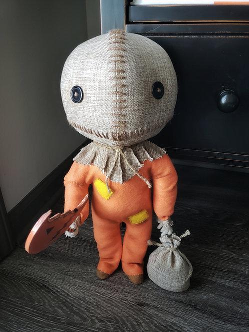 """17"""" Handmade Trick R Treat Sam Doll"""