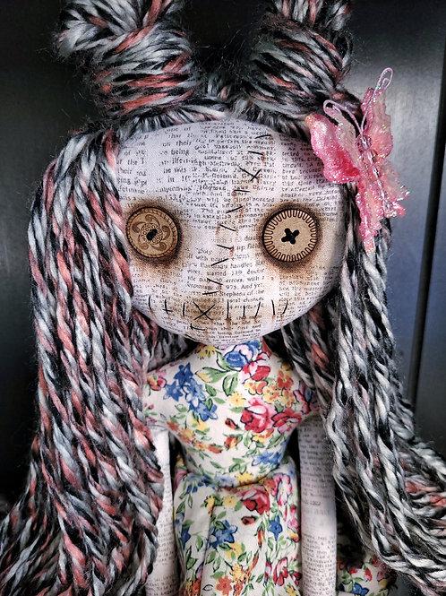 "18"" Handmade Grungy Doll 'Pink'"