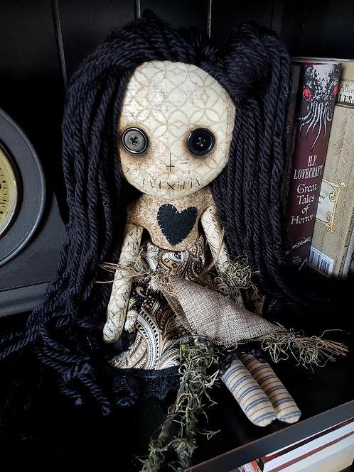 """16"""" Handmade Voodoo Girl with Stick Voodoo Doll"""