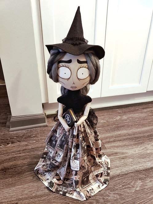 "20"" Handmade Witch Doll with Book"