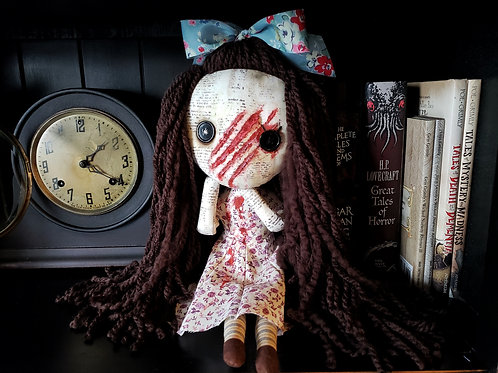 "16"" Handmade Slashed-face Doll"