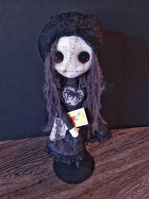 "18"" Handmade Gypsy Doll with Tarot Card"