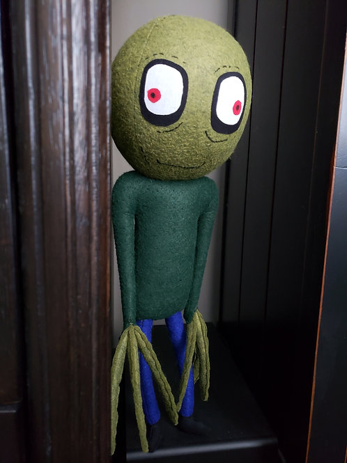 "17"" Handmade Salad Fingers Doll"