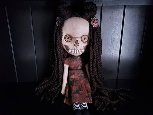 "19"" Handmade Skull-faced Doll"