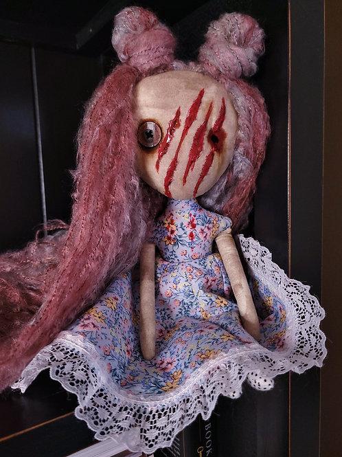 "13"" Handmade Mini Moody Doll (Slashed)"