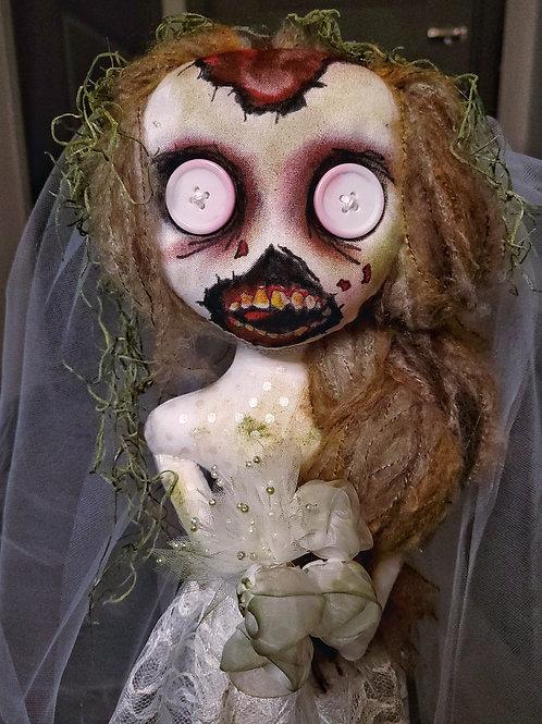 "20"" Handmade Free-standing Zombie Bride Doll"