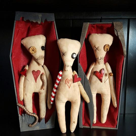 Voodoo Dolls in Coffins