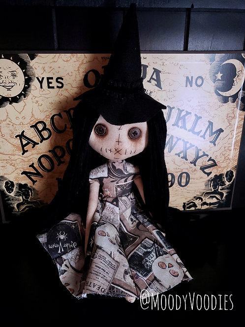 "13"" Handmade Mini Moody Witch"
