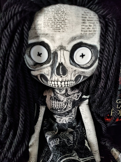 """16"""" Handmade Skull-faced Doll"""