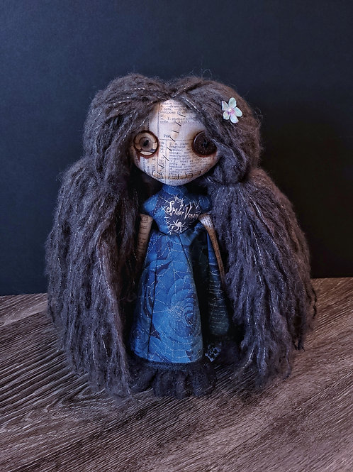 "13"" Handmade Mini Moody Doll (Dark)"