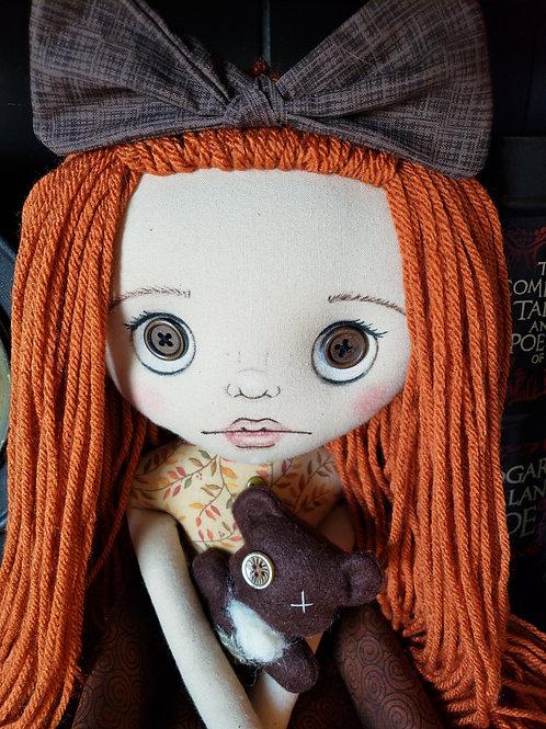 """16"""" Handmade Doll 'Kylie' with Teddy Bear"""