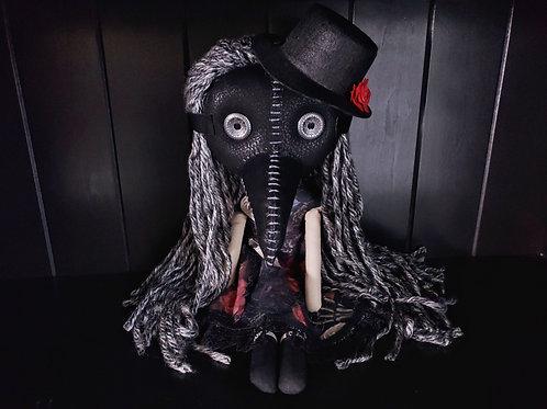 "18"" Handmade Plague Doctor Doll"