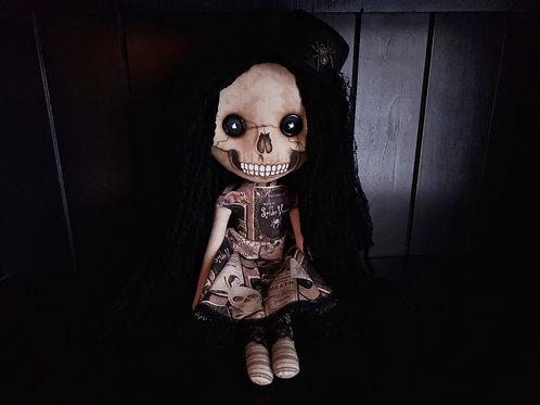 "18"" Handmade Skull-faced Doll with Hat"