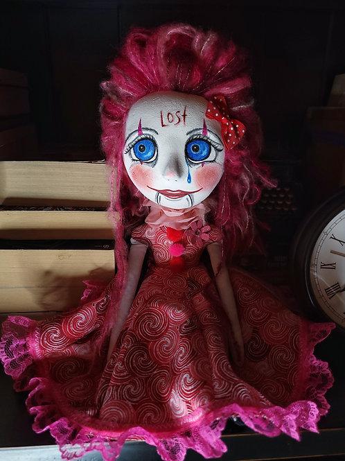 """14"""" Handmade Clown Art Doll"""