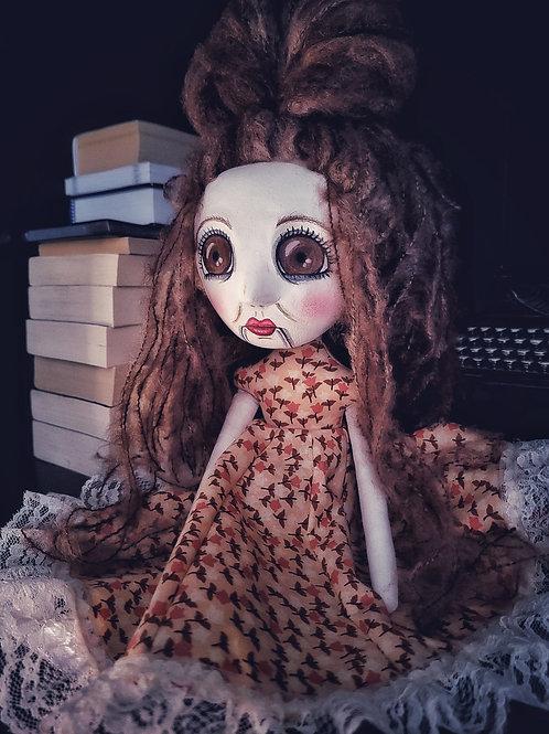 "14"" Handmade Art Doll ""Nina"""