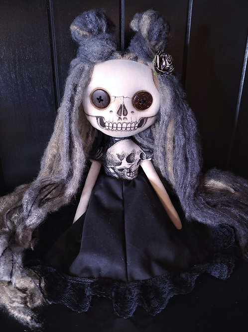 "13"" Handmade Mini Skull Doll"