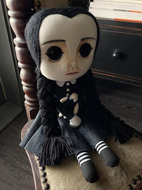 "16"" Handmade Wednesday with Headless Doll"