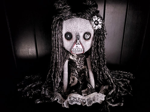 "18"" Handmade Zipperface Doll"