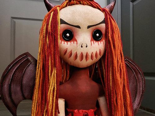 """20"""" Handmade 'Hell's Belle' Doll"""