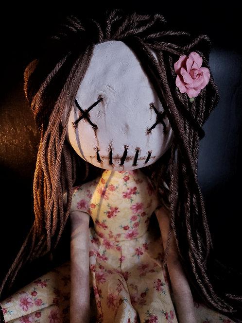 """18"""" Handmade Clay-Face Doll"""