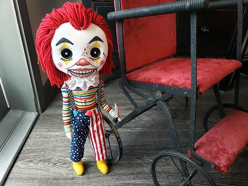 "18.5"" Handmade Clown Doll"