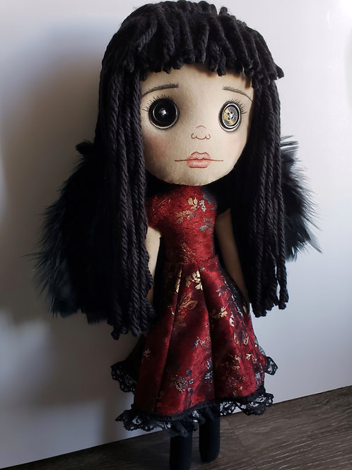 "16"" Handmade Winged Gothic Doll"