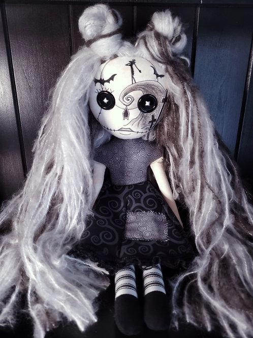 """18"""" Handmade Nightmare Sugar Skull"""