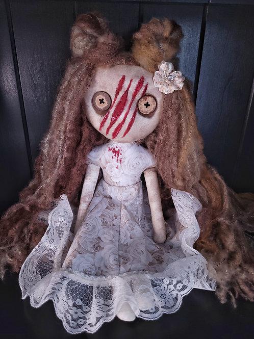 "18"" Handmade Slashed-face Doll"