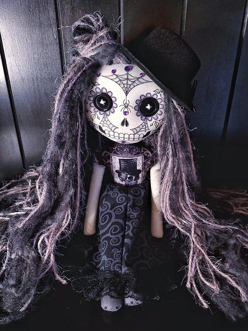 """18"""" Handmade Sugar Skull Doll (With Hat)"""