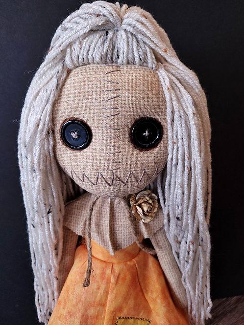 "18"" Handmade Samantha Doll (Light Blonde Speckled Hair)"