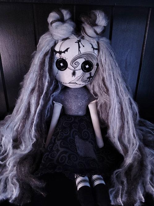 """18"""" Handmade Nightmare Sugar Skull Doll"""