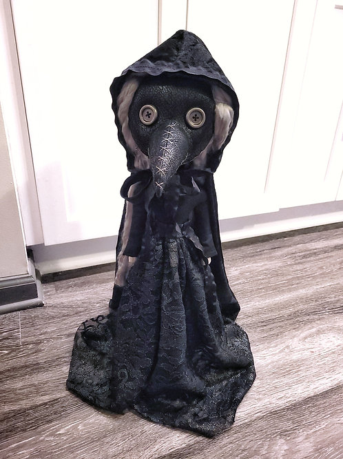 "22"" Handmade Free-standing Plague Doctor Doll (With Cape)"