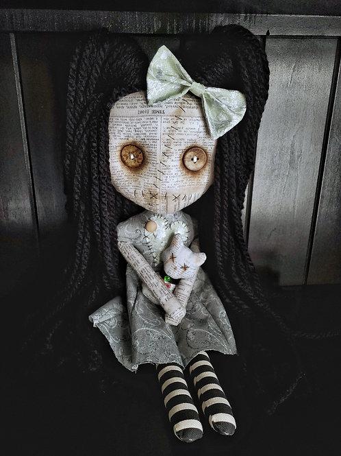 "16"" Handmade Voodoo Doll w/ Cat"