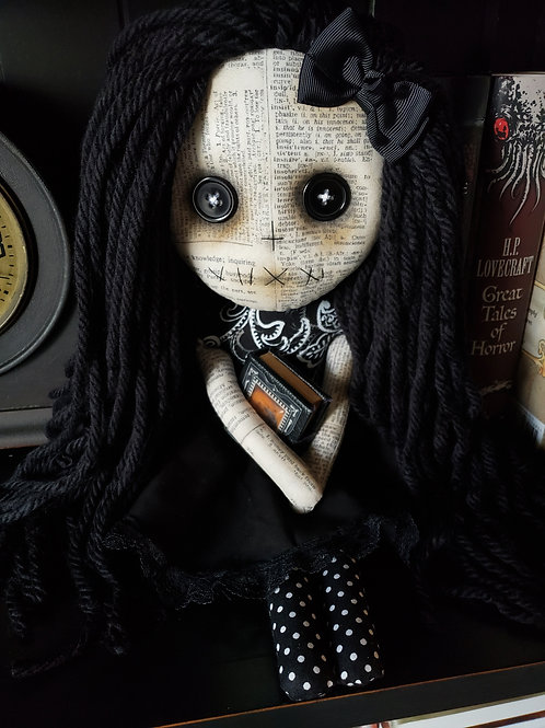 """16"""" Handmade Doll with Book"""