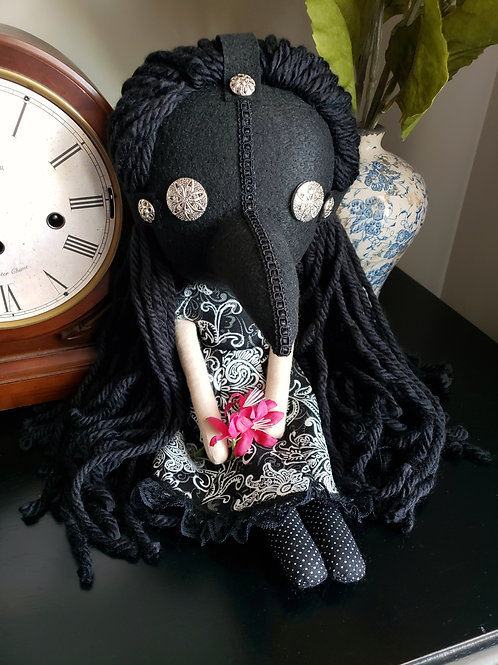 """16"""" Handmade Plague Doctor Girl"""