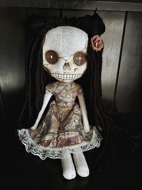 """16""""Handmade Skull-faced Doll"""