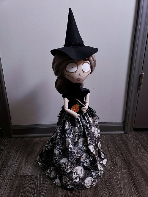 """20"""" Handmade Witch Doll with Book"""
