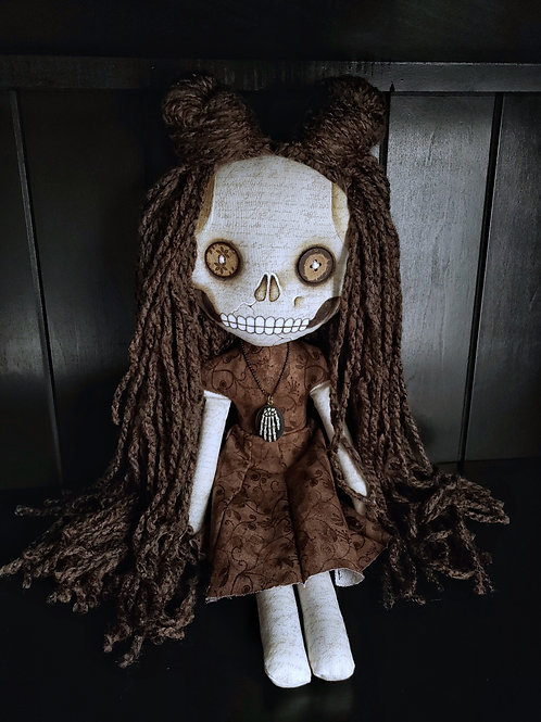 "16""Handmade Skull-faced Doll"