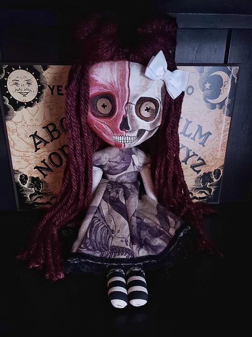 """18"""" Handmade Half-Skull Doll"""