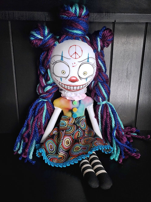 "18"" Handmade Clown Doll"