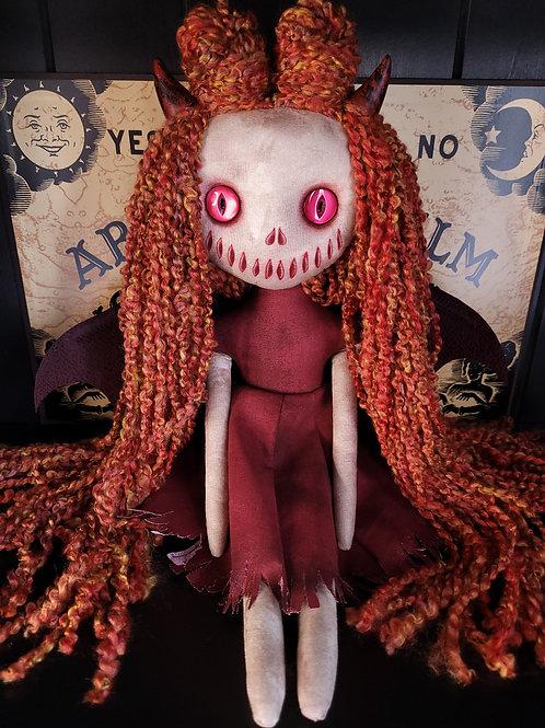 "18"" Handmade Winged Demon Doll (Red Eyes)"