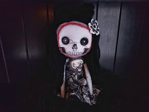 "18"" Handmade Ripped-Face Doll"
