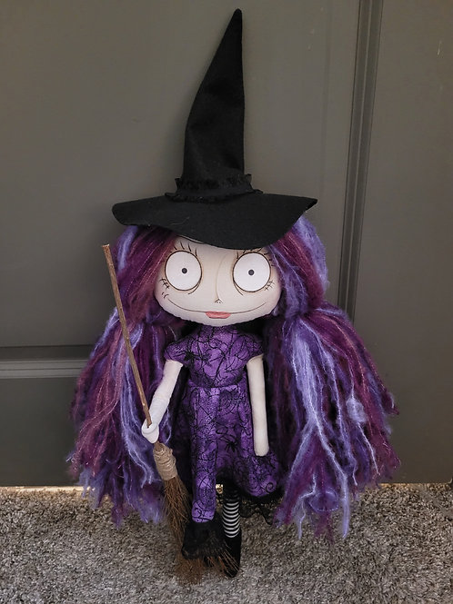 "18"" Handmade Witch Doll ""Sarafiend"""